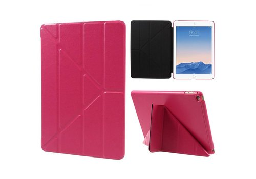 Apple iPad Air 2 - Origami Stand PU lederen Tablet Case - Rose