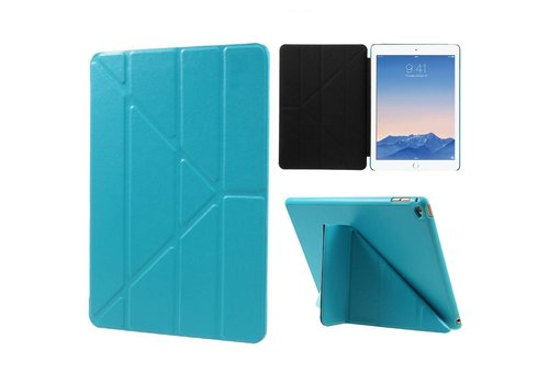 Apple iPad Air 2 - Origami Stand PU lederen Tablet Case - Blauw