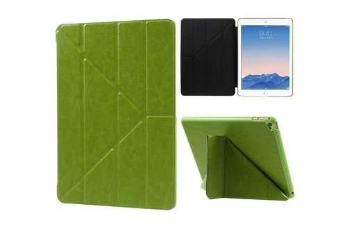 Apple iPad Air 2 - Origami Stand PU lederen Tablet Case - Groen