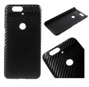 GSMWise Huawei Nexus 6P Hoesje - Harde Back Snap Case - Carbon Fiber Design Zwart