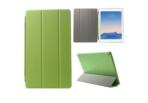 Apple iPad Air 2 - PU Lederen Case Flip Cover Tri-fold Stand - Groen