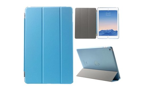 Apple iPad Air 2 - PU Lederen Case Flip Cover Tri-fold Stand - Blauw