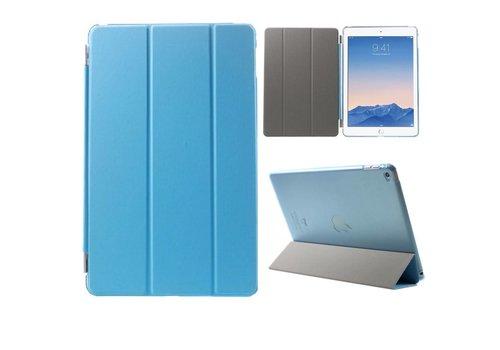 Apple iPad Air 2 - PU Lederen Case Flip Cover Tri-fold Stand - Blauw