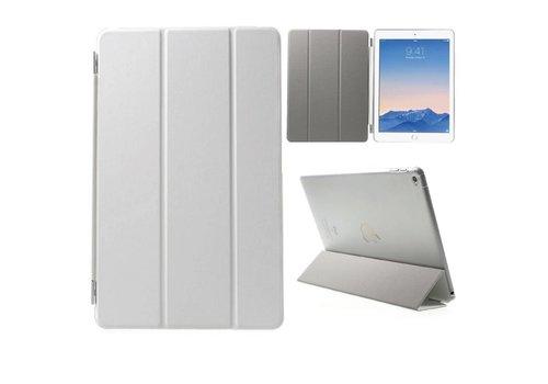 Apple iPad Air 2 - PU Lederen Case Flip Cover Tri-fold Stand - Wit
