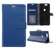 GSMWise Huawei Nexus 6P Hoesje - PU Lederen TPU Portemonnee Case met Kaarthouder Lychee - Blauw
