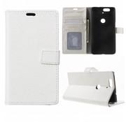 GSMWise Huawei Nexus 6P Hoesje - PU Lederen TPU Portemonnee Case met Kaarthouder Lychee - Wit