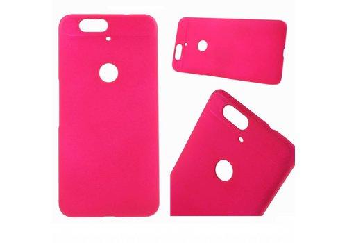 Huawei Nexus 6P - Harde Back Case Anti-fingerprint Hoesje - Magenta Hot Pink