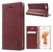 GSMWise Apple iPhone 7 / 8 - Portemonnee Hoesje PU Lederen Case - Donker Rood