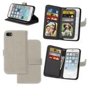 GSMWise Apple iPhone 7 / 8 - PU lederen Mat Portemonnee Case met Kaarthouders - Grijs
