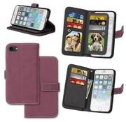 GSMWise Apple iPhone 7 / 8 - PU lederen Mat Portemonnee Case met Kaarthouders - Rood