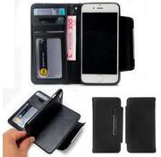 GSMWise Apple iPhone 7 / 8 - Lychee PU Lederen Portemonnee Case met Kaarthouder en Afneembaar Back Case - Zwart