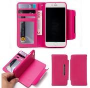 GSMWise Apple iPhone 7 / 8 - Lychee PU Lederen Portemonnee Case met Kaarthouder en Afneembaar Back Case - Roze