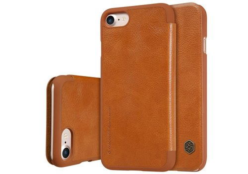 Apple iPhone 7 / 8 - PU Lederen Flip Case met Kaarthouder - Bruin