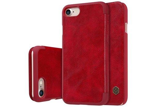 Apple iPhone 7 / 8 - PU Lederen Flip Case met Kaarthouder - Rood
