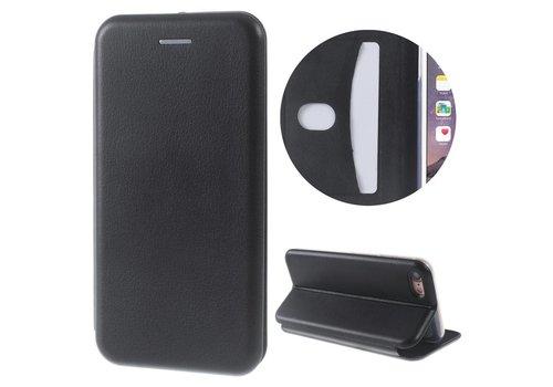 Apple iPhone 7 / 8 - PU Lederen Shell Cover met Kaarthouder - Zwart