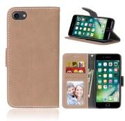 GSMWise Apple iPhone 7 / 8 - PU Lederen Retro style Portemonnee Hoesje - Khaki