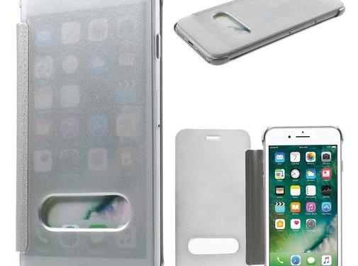 GSMWise Apple iPhone 7 - Doorzichtige Window View Case - Zilver