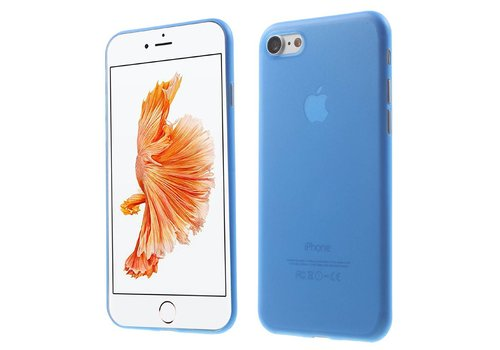 Apple iPhone 7 / 8 - Ultra Dunne PC Hard Case - Blauw