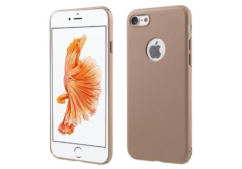 Apple iPhone 7 - Rubberen Hard PC Back Cover - Rose / Goud