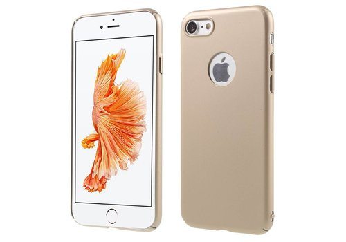 Apple iPhone 7 - Rubberen Hard PC Back Cover - Goud