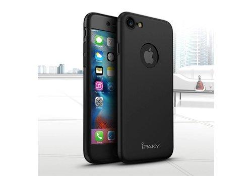Apple iPhone 7 - PC Mat Back Cover Met Screen Protector - Zwart