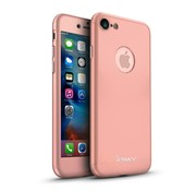 GSMWise Apple iPhone 7 - PC Mat Back Cover Met Screen Protector - Roze