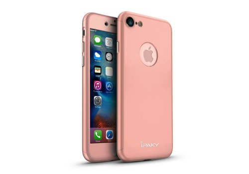 Apple iPhone 7 - PC Mat Back Cover Met Screen Protector - Roze