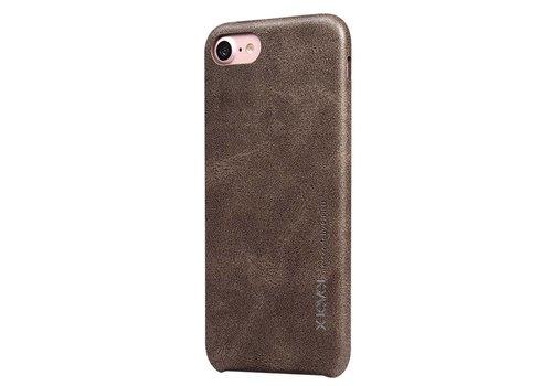 Apple iPhone 7 / 8 - Vintage PU Lederen Back Case - Bruin