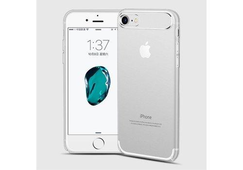 Apple iPhone 7 / 8 - Dunne Helderde Plastic Back Case - Zilver