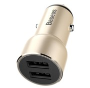 GSMWise BASEUS - Autolader Dubbel USB - Goud