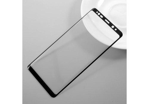 Samsung Galaxy Note 8 - Volledige dekkende Krasbestendige Glazen Screenprotector - Zwart