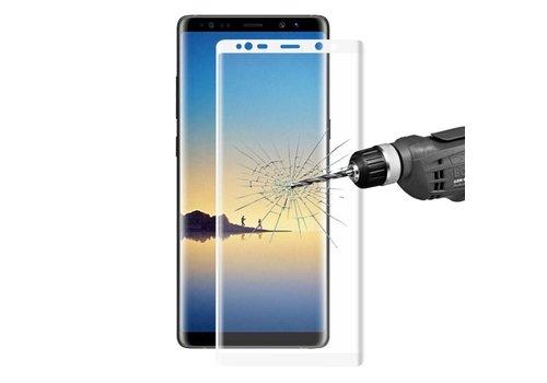 Samsung Galaxy Note 8 - Volledige dekkende Krasbestendige Glazen Screenprotector - Wit