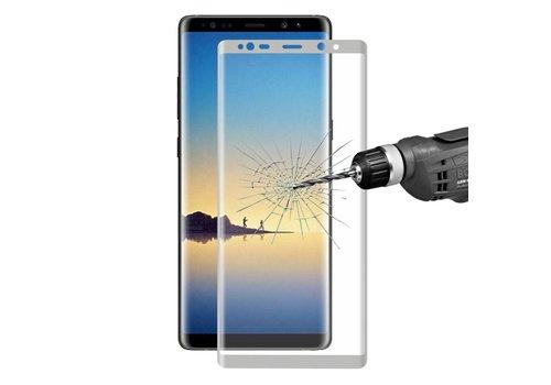 Samsung Galaxy Note 8 - Volledige dekkende Tempered Glazen Screenprotector - Zilver