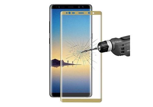 Samsung Galaxy Note 8 - Volledige dekkende Tempered Glazen Screenprotector - Goud