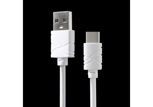 PINZUN - Fast Charging USB-C OplaadKabel 1m - Wit
