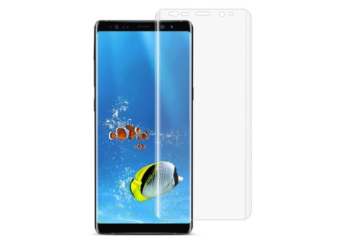 Samsung Galaxy Note 8 - Volledige Dekkende Plastic Screenprotector - Transparant