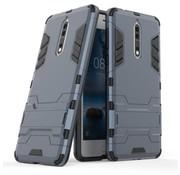 GSMWise Nokia 8 - Stevig Backcover Hybride Beschermhoesje met Stand - Donker Blauw