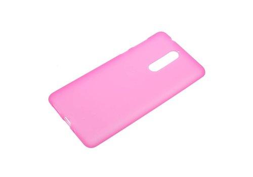 Nokia 8 - Matte TPU Shell Back Case - Roze