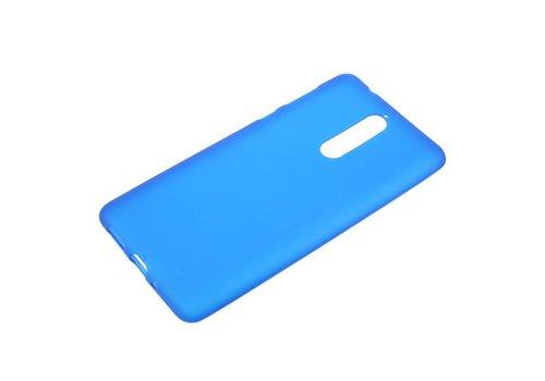 Nokia 8 - Matte TPU Shell Back Case - Blauw