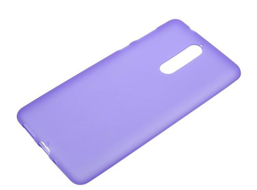GSMWise Nokia 8 - Matte TPU Shell Back Case - Paars