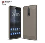 GSMWise Nokia 8 - Geborsteld Hard Back Cover Carbon Fiber Design - Grijs