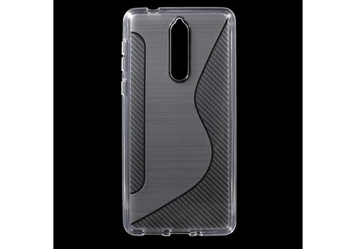 Nokia 8 - S-Line Flexibel TPU Hoesje Back Case - Wit