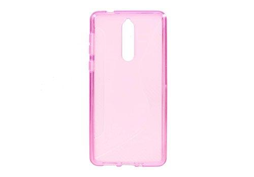 Nokia 8 - S-Line Flexibel TPU Hoesje Back Case - Roze