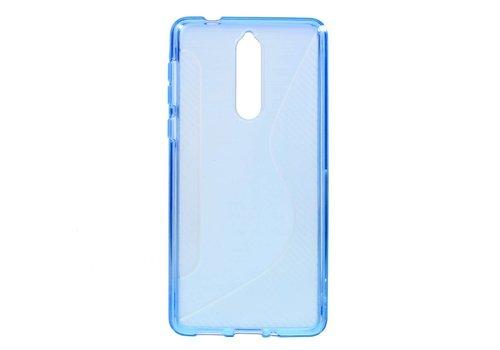 Nokia 8 - S-Line Flexibel TPU Hoesje Back Case - Blauw