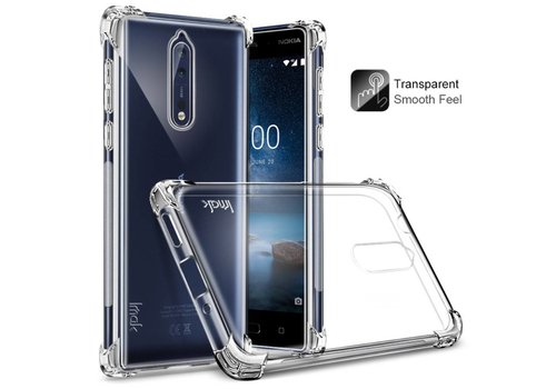 Nokia 8 - Shockproof TPU Back Case met Screenprotector - Transparant