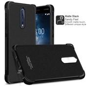 GSMWise Nokia 8 - Shockproof TPU Back Case met Screenprotector - Mat Zwart