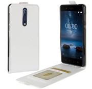 GSMWise Nokia 8 - PU lederen Flip Hoesje Case met Kaarthouder en Fotohouder - Wit