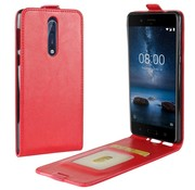 GSMWise Nokia 8 - PU lederen Flip Hoesje Case met Kaarthouder en Fotohouder - Rood