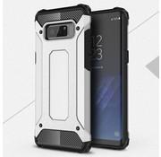 GSMWise Samsung Galaxy Note 8 - Stevig Hybrid Beschermhoesje Back Case Shockproof - Zilver