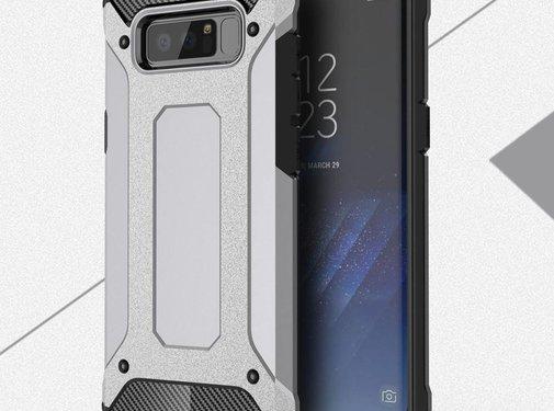 GSMWise Samsung Galaxy Note 8 - Stevig Hybrid Beschermhoesje Back Case Shockproof - Grijs